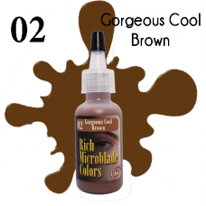 Rich Microblade Colors - #02 Gorgeous Cool Brown