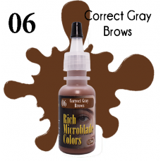 Rich Microblade Colors - #06 Correct Gray Brows