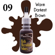 Rich Microblade Colors - #09 Warm Darkest Brown