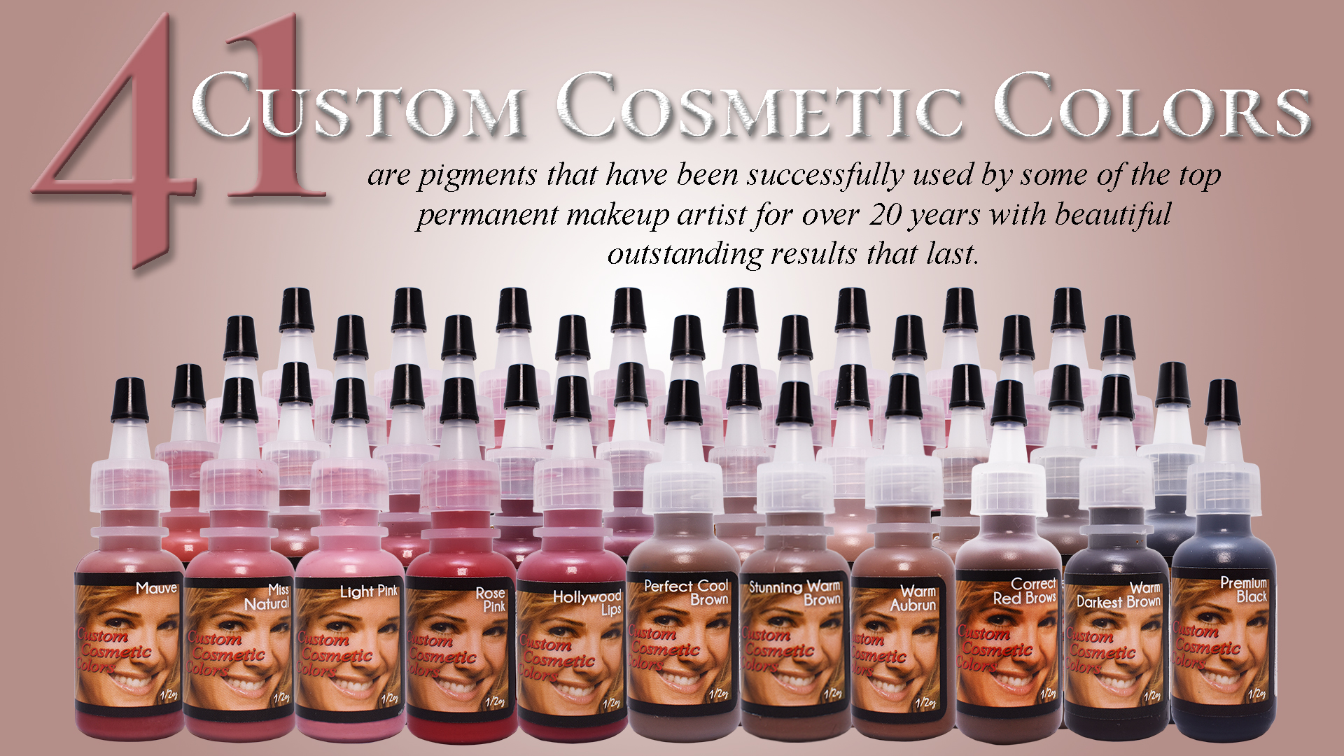 Custom Cosmetic Colors - Permanent Makeup Pigments